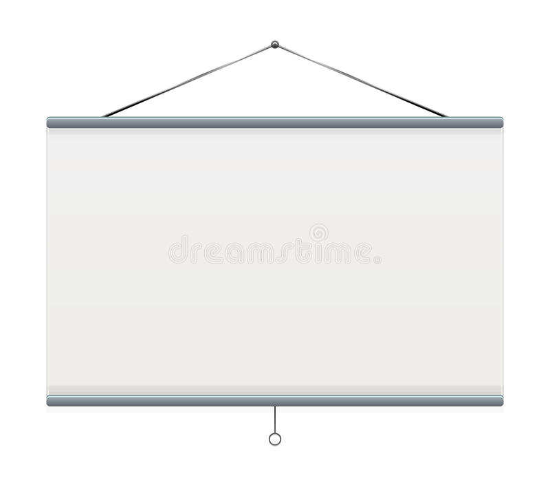 Projektoru Ekran ilustracja wektor