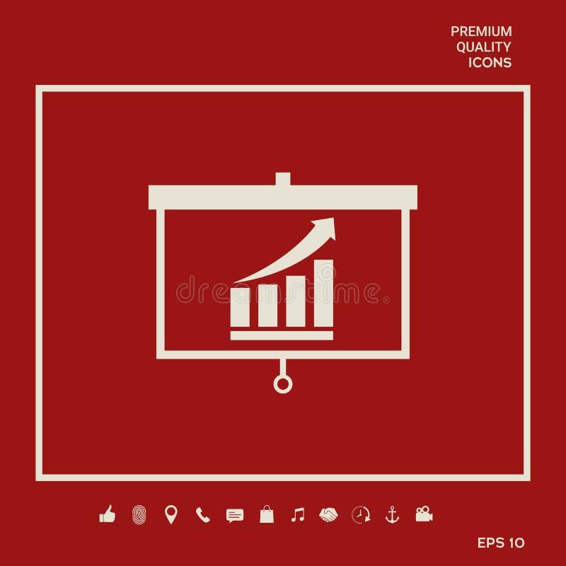 Projektoru ekran z dorośnięciem zakazuje grafikę Graficzni elementy dla twój projekta ilustracji