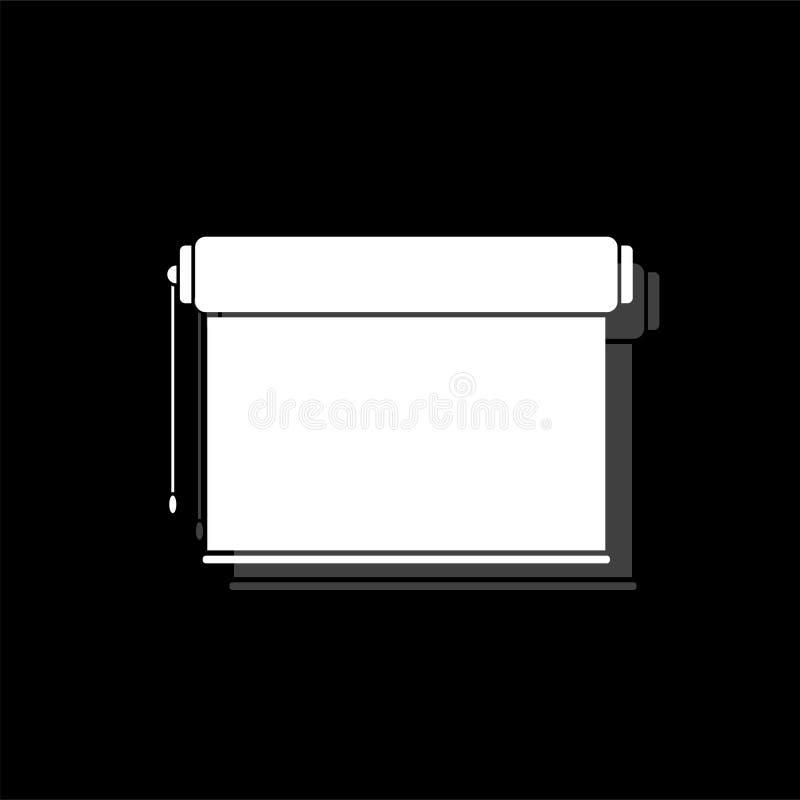 Projektoru rolownika ekranu ikony mieszkanie ilustracji