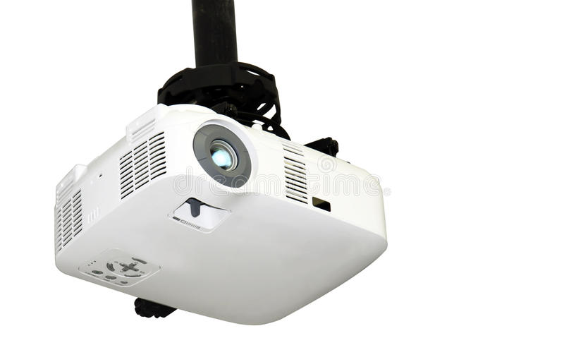projektoru TARGET2146_1_ odosobniony biel fotografia stock