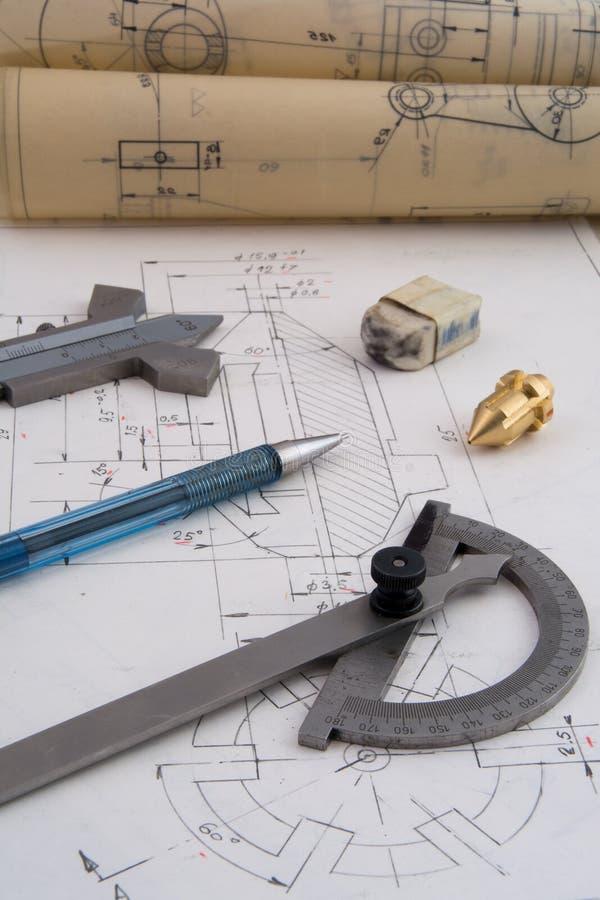Projektować machinalne części fotografia stock