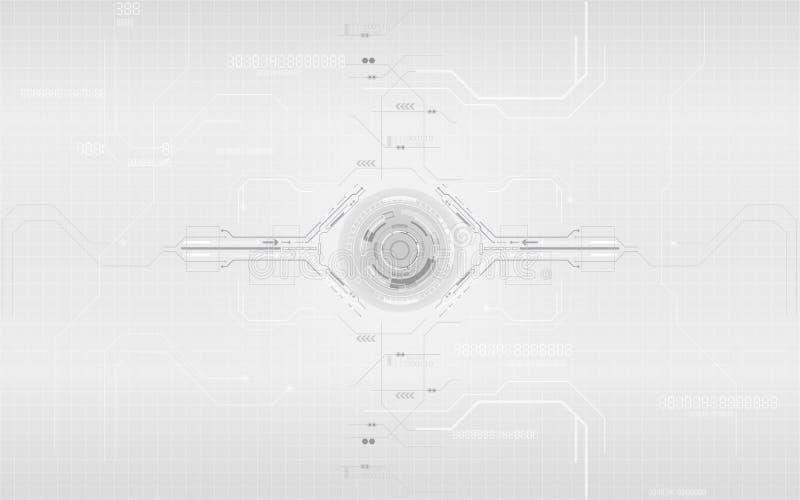 Projektowanie systemów cyfrowej komunikacji w technologii szarej i białej ilustracja wektor