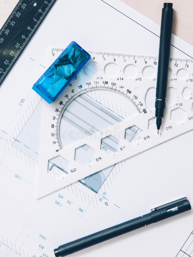 Projektowanie wnętrz architektonicznych miejsc pracy obraz royalty free