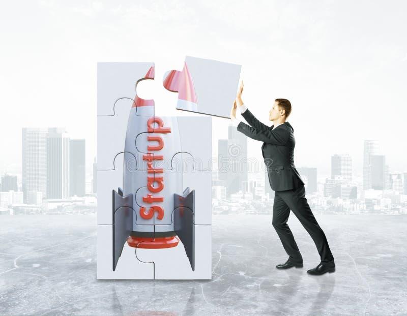 Projektstart och utvecklingsprocess vektor illustrationer