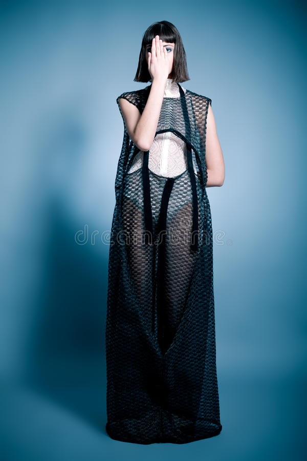 Projektująca suknia fotografia royalty free