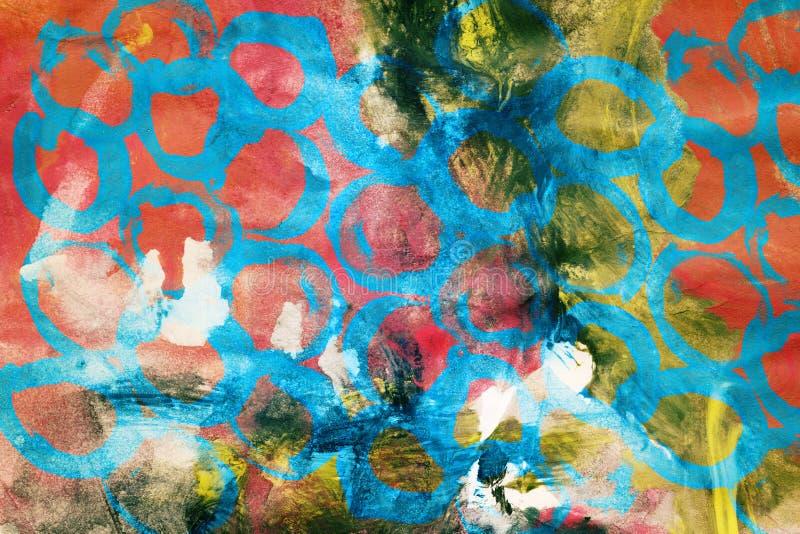 Projektujący abstrakcjonistycznej sztuki tło ilustracji