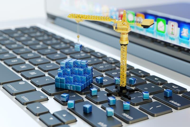 Projektujący, konstruujący, biznesowy planowaniu i projekta rozwoju, informatyki pojęcie ilustracja wektor