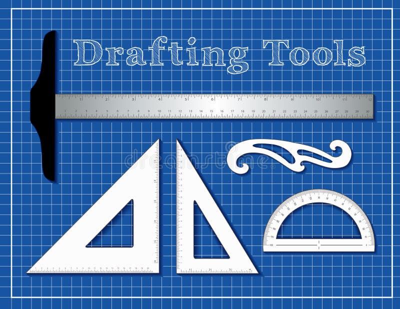 Projektujący narzędzia dla architektury, inżyniery, nauka, matematyka, royalty ilustracja