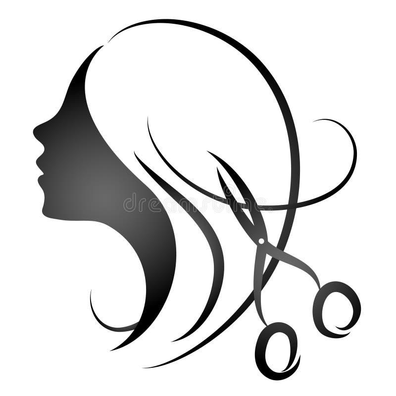 Projektuje dla kobiety fryzjerstwa salonu zdjęcia royalty free