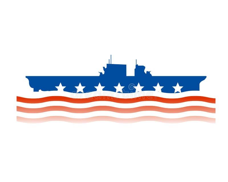 projektuje jednoczących marynarka wojenna stan royalty ilustracja
