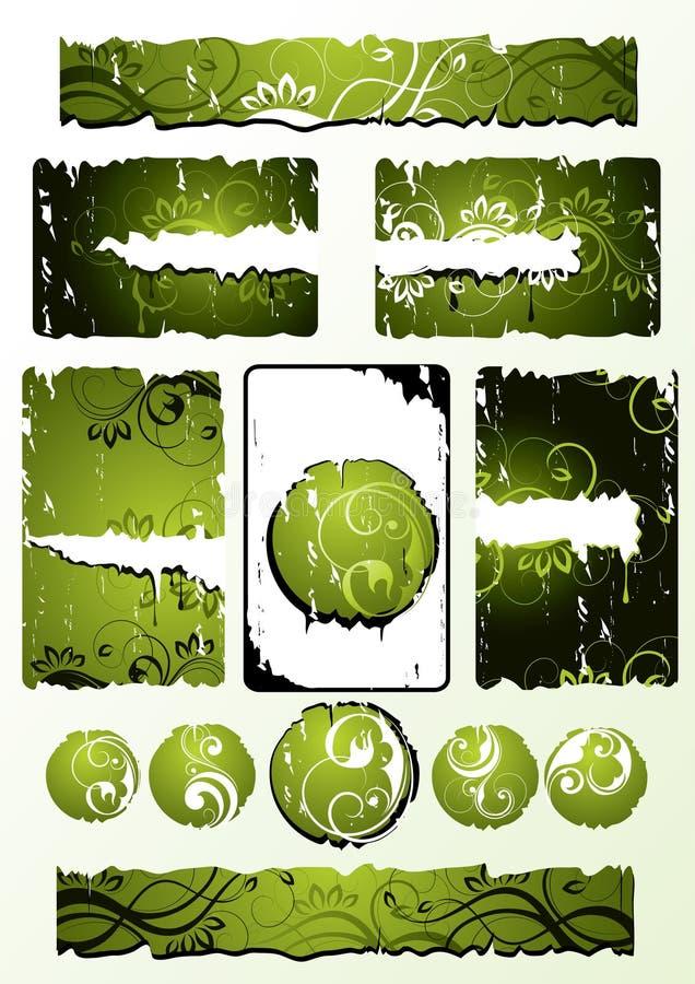 projektuje kwiecistą zieleń ilustracja wektor