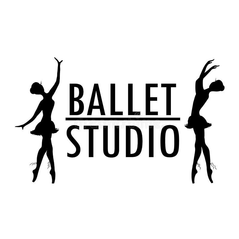 Projektuje plakata lub loga baleta szkoły, tana studio ilustracja wektor