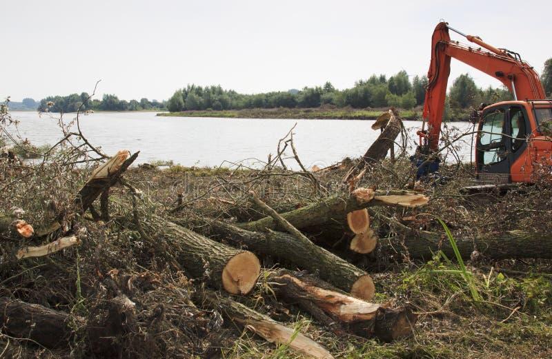 Projektuje pokój dla rzeki IJssel, holandie obrazy royalty free