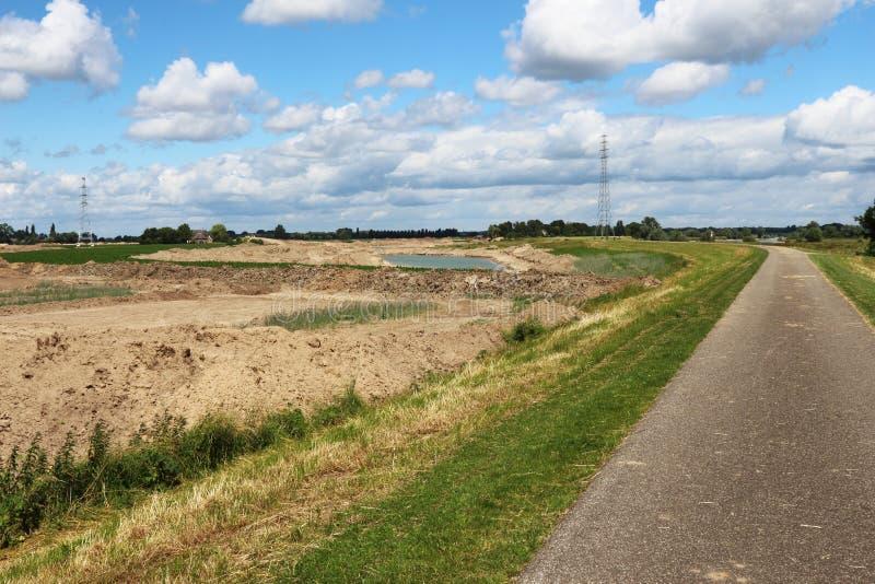 Projektuje pokój dla rzeki, Rammelwaard, Holandia obrazy royalty free