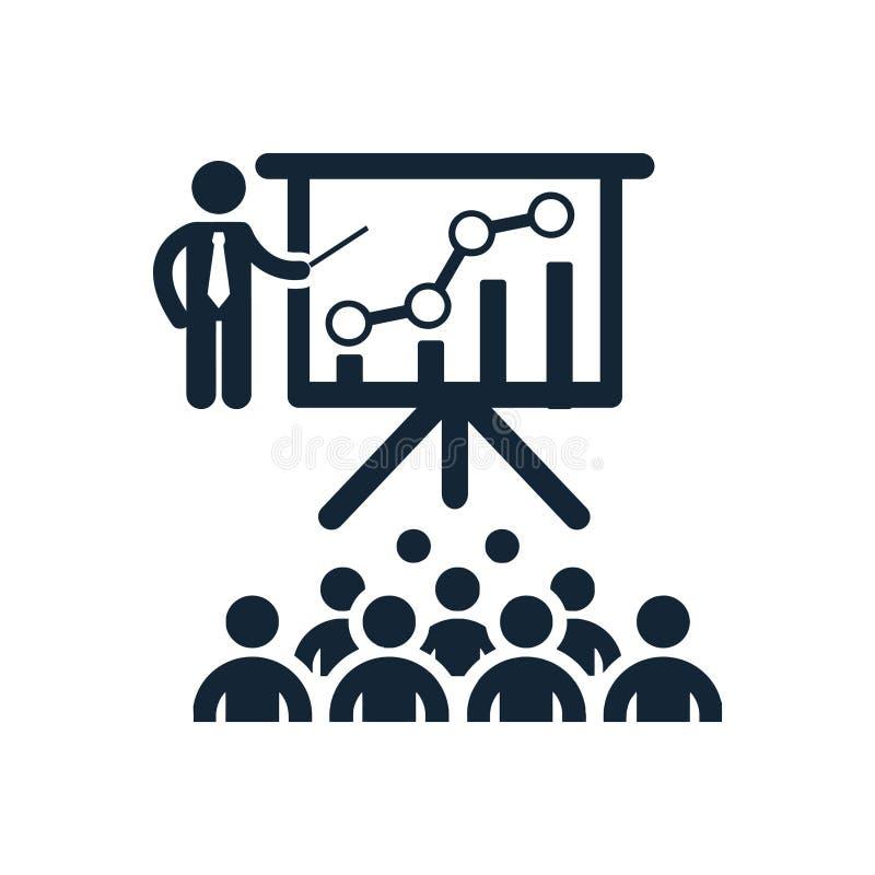 Projektuje szkolenie, szkolenie, biznes, deska, drużyna, ikona ilustracja wektor