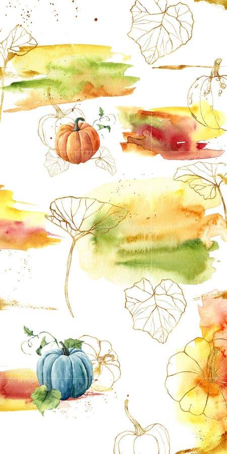Projektuje tła dla ogólnospołecznego medialnego sztandaru z jesieni baniami i tematem Set Instagram poczty ramy szablony Mockup ilustracji