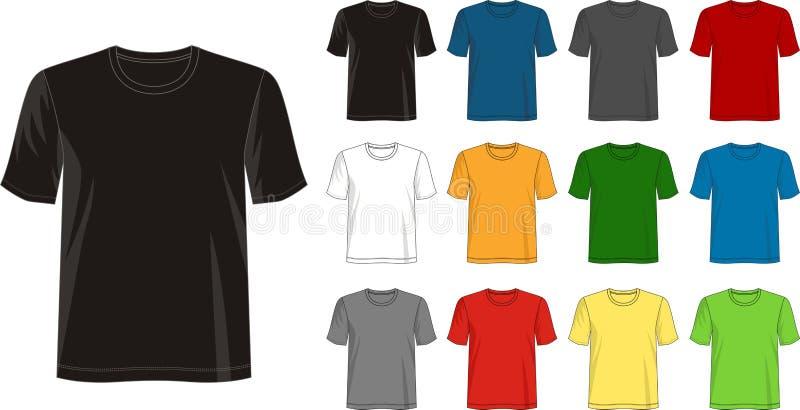 Projektuje wektorową t szablonu koszulową kolekcję dla mężczyzna ilustracji