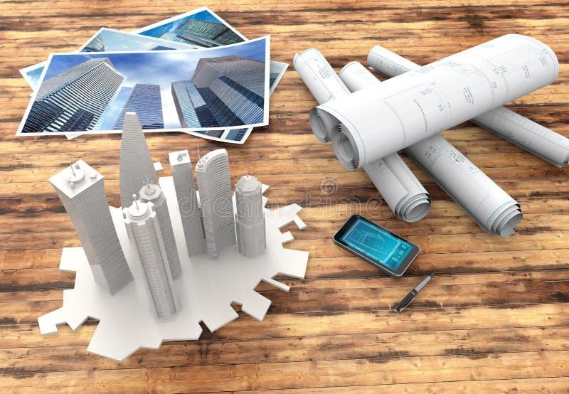 Projekty i 3d model ilustracji