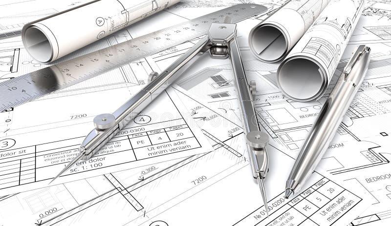 Projekty i rysunek rolki ilustracja wektor