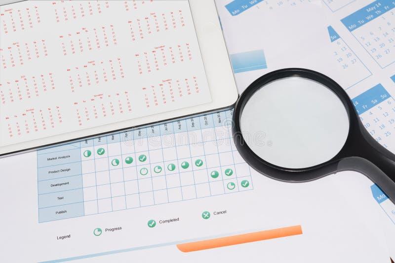 Projektzeitplan lizenzfreie stockbilder