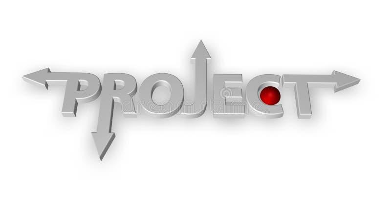 Projet illustration stock