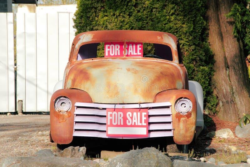 Projet classique de restauration de voiture photo stock