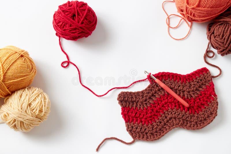 Projet coloré de crochet image libre de droits