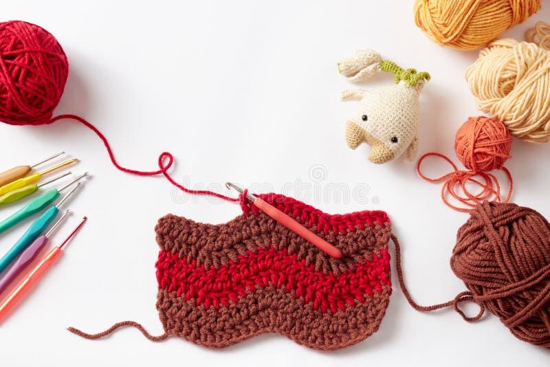 Projet coloré de crochet photographie stock