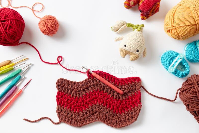 Projet coloré de crochet image stock