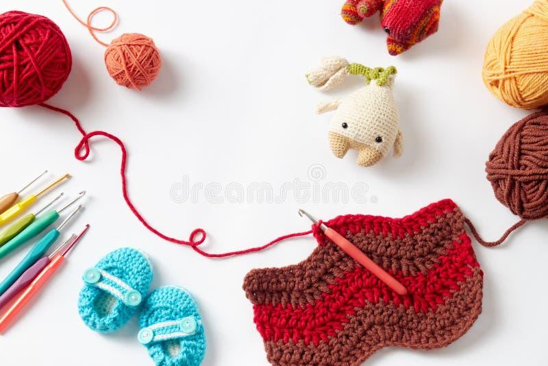 Projet coloré de crochet images stock