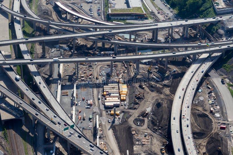 Projet d'échange de Montréal Turcot photos stock