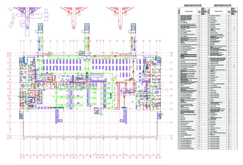 Projet d'aéroport illustration libre de droits