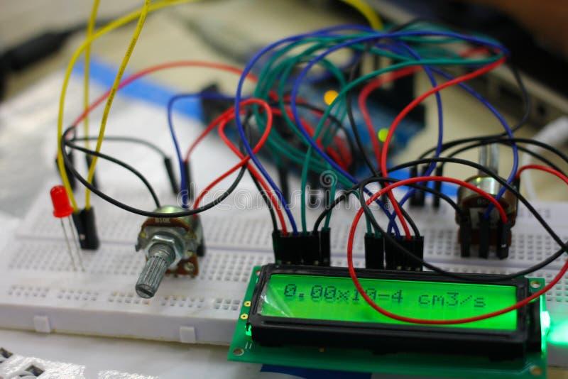 Projet d'Arduino photo stock