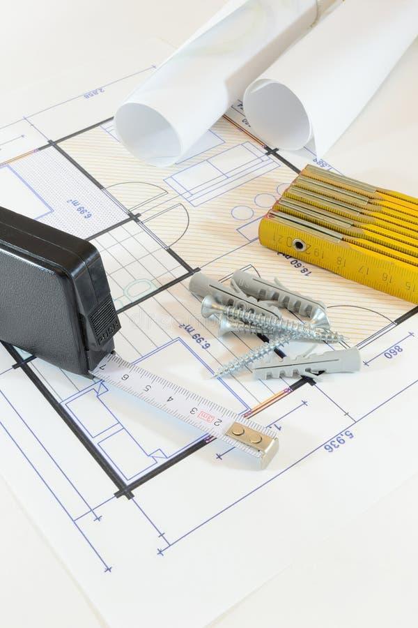 Projet de construction photo stock image du industries for Projet construction