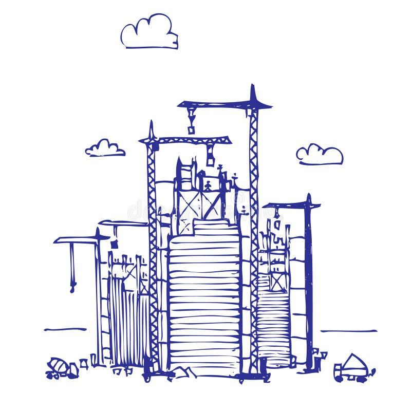 Projet de construction illustration libre de droits