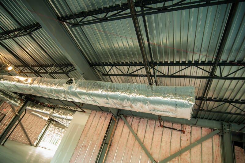 Projet de construction de cadre en acier non fini images libres de droits