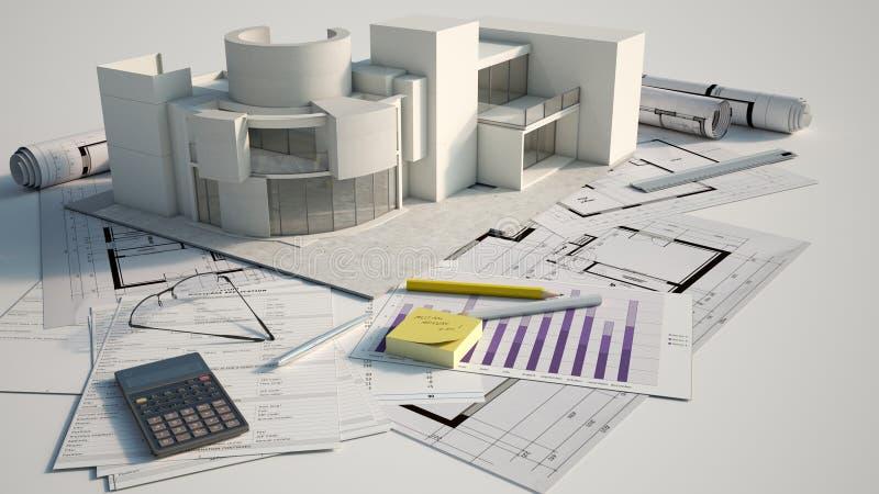 Projet de construction illustration stock