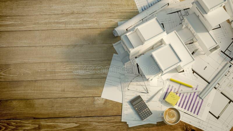Projet de logement illustration libre de droits