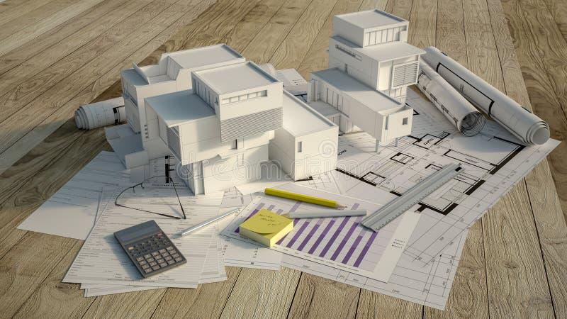 Projet de logement illustration stock