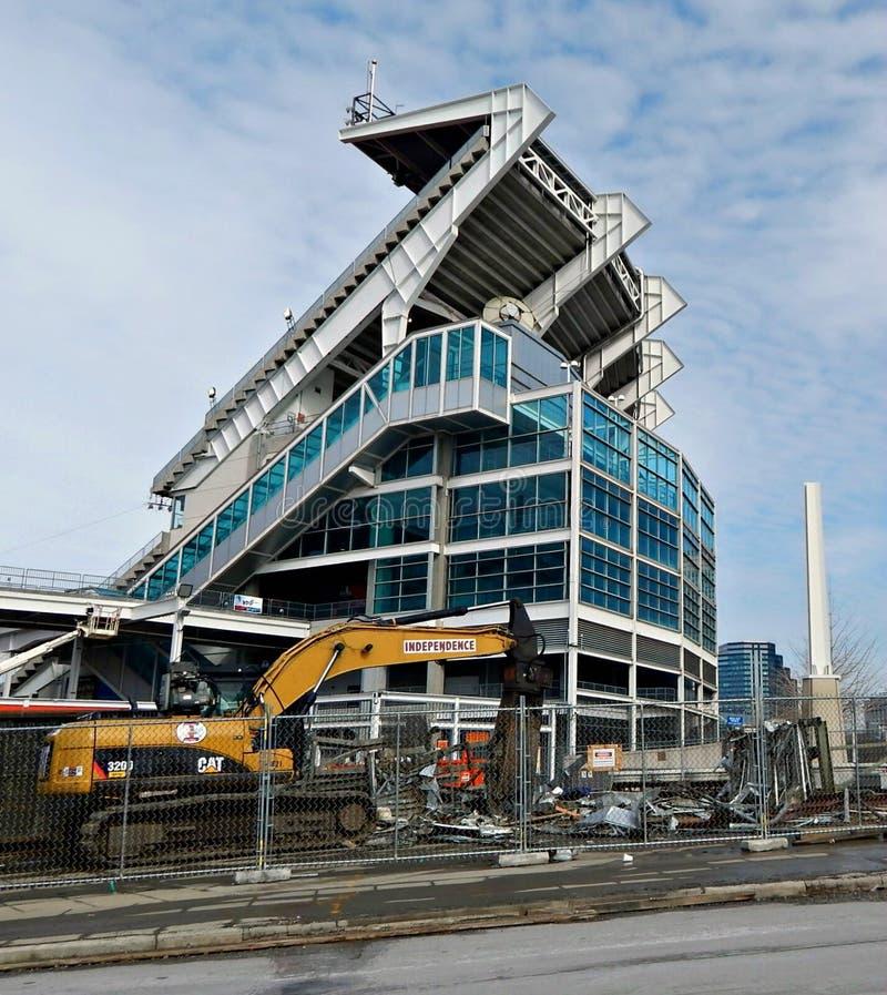 Projet de modernisation de stade de FirstEnergy photographie stock libre de droits