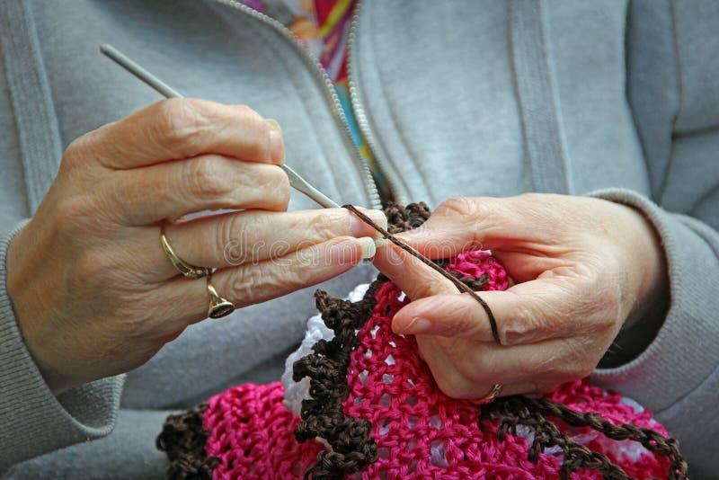 Projet de tricotage de crochet images stock