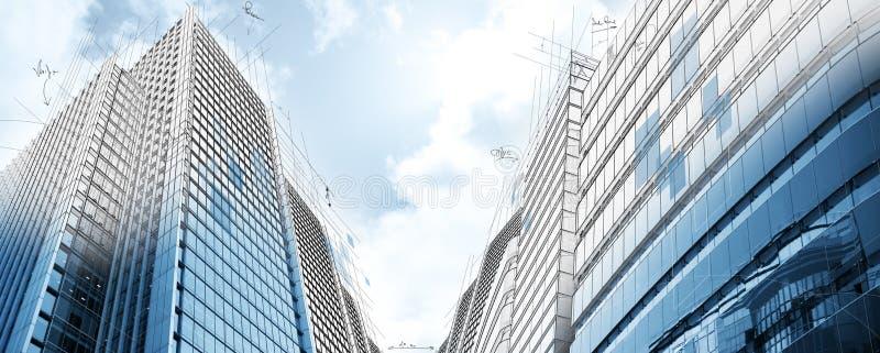 Projet des constructions modernes photos stock