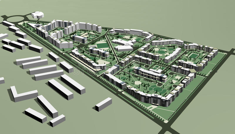 Projet des zones résidentielles illustration stock