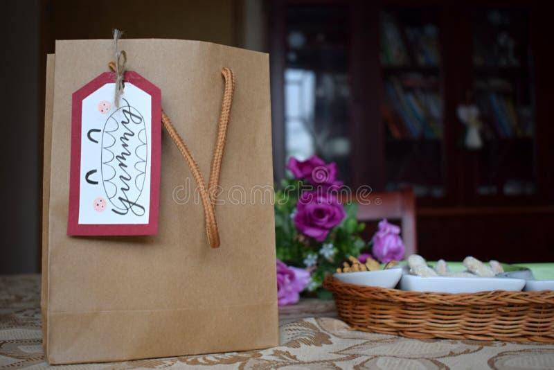 Projet en lettres de main, décoration de cadeau photo libre de droits