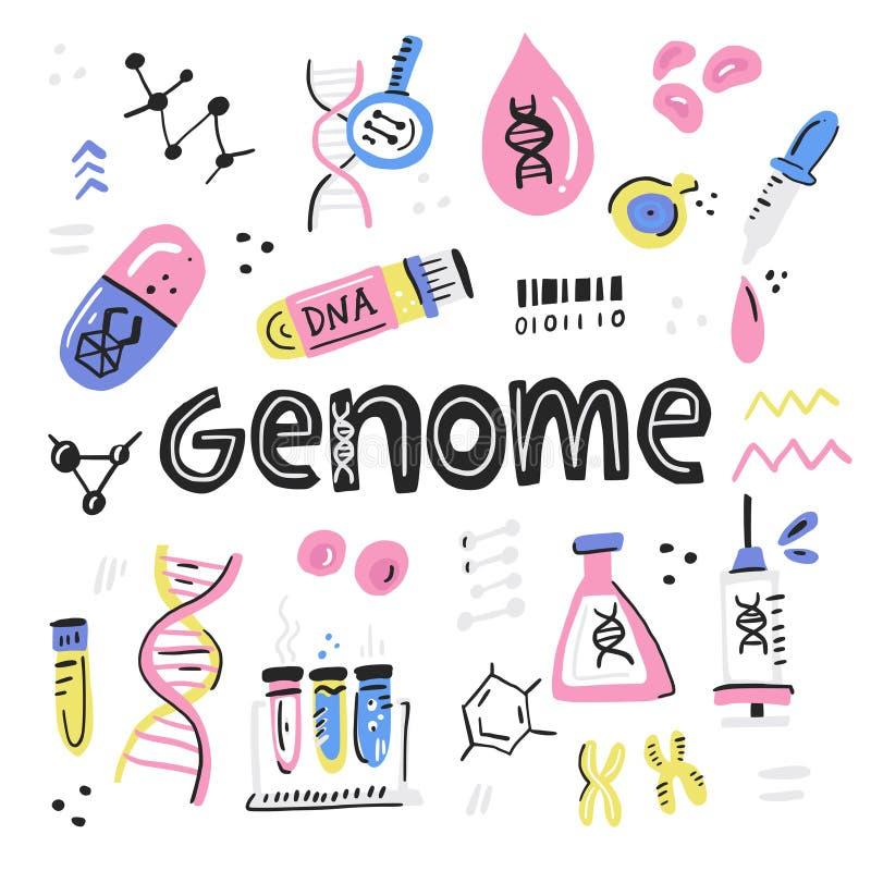 Projet génome humain illustration stock