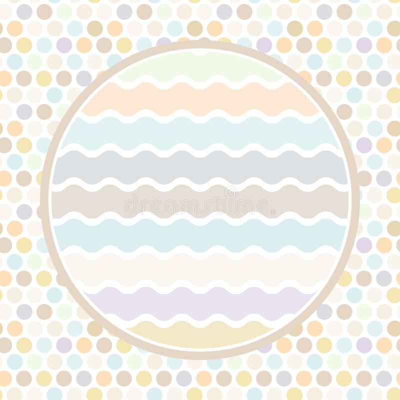 Projete cartões circundam para seu fundo do às bolinhas do texto, teste padrão Ponto da cor pastel no fundo branco Vetor ilustração royalty free