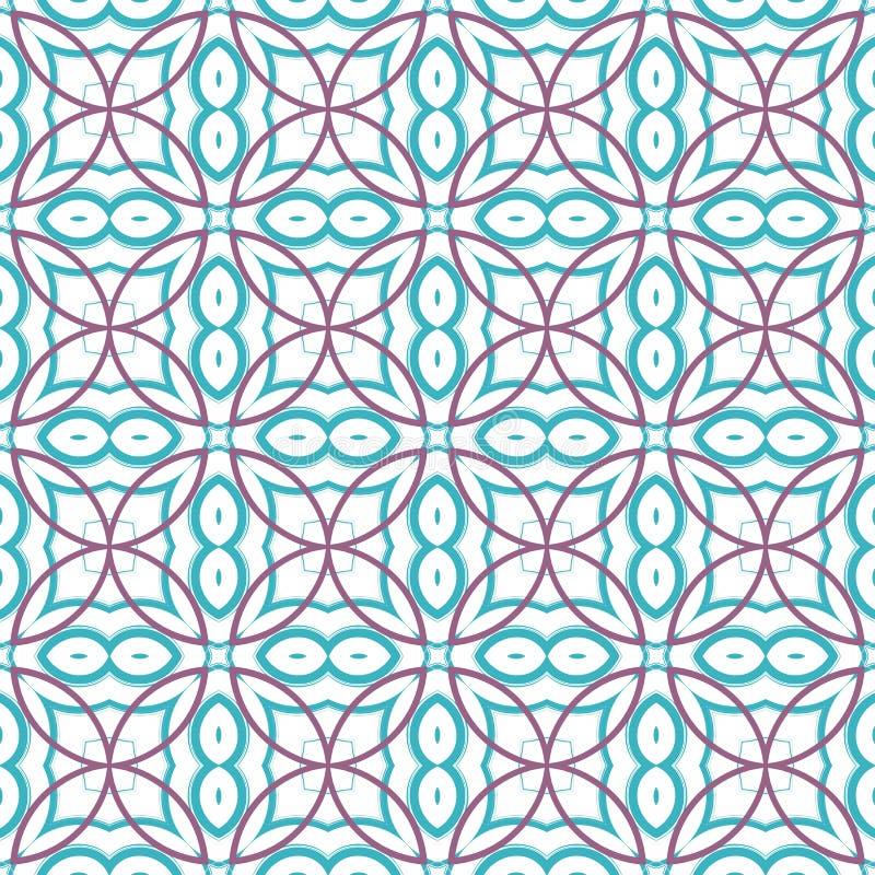 Projete imprimindo na tela, matéria têxtil, papel, envoltório, scrapbooking Fundo geométrico autêntico na repetição ilustração royalty free