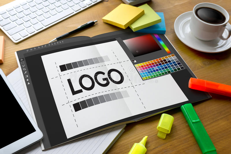 projete o gráfico criativo l do esboço do desenhista do tipo do trabalho da faculdade criadora fotografia de stock