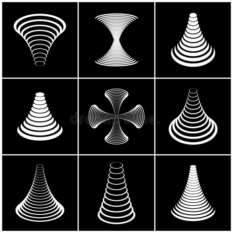 Projete o jogo de elementos ?cones geom?tricos abstratos ilustração royalty free