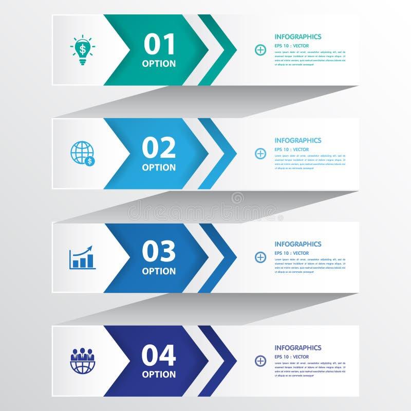Projete o molde das bandeiras do número/disposição limpa do gráfico ou do Web site ilustração do vetor